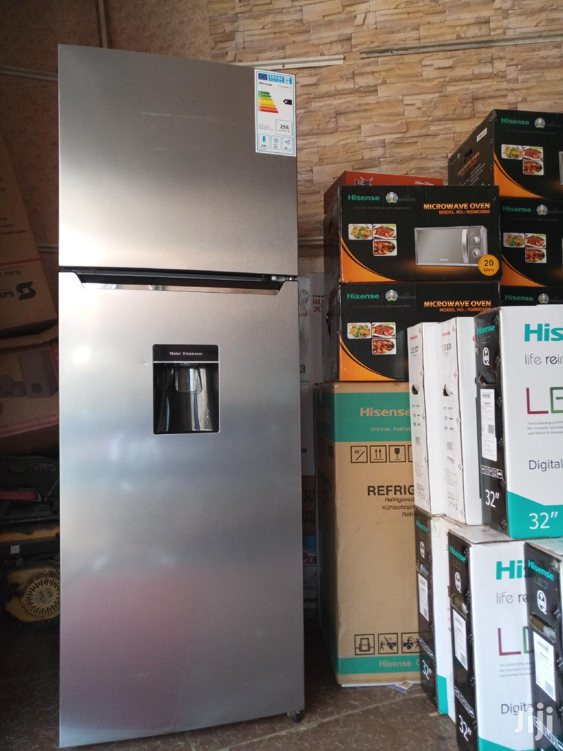 419 Litres Hisense Double Door Fridge Frost Free With Water Dispenser | Kitchen Appliances for sale in Kampala, Central Region, Uganda