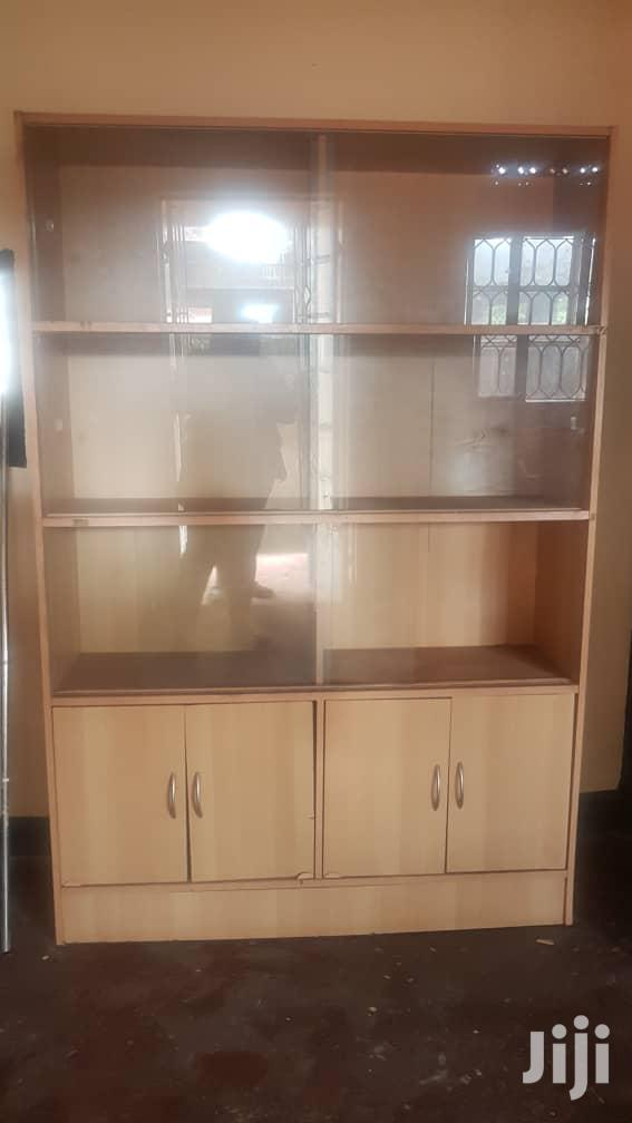 Book Shelf Cabinet With Glass Doors for Sale