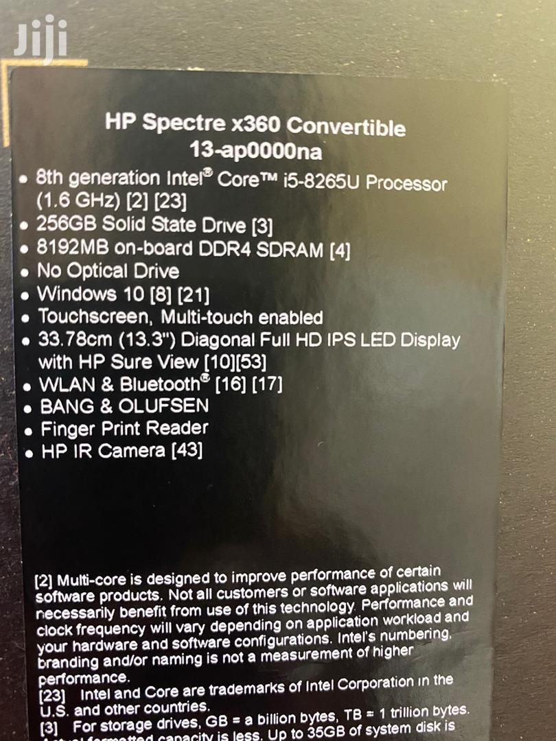 New Laptop HP Spectre X360 13 8GB Intel Core I5 SSD 256GB | Laptops & Computers for sale in Kampala, Central Region, Uganda