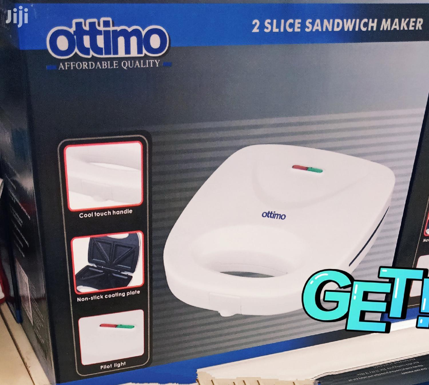 Ottimo 2 Slice Sandwich Maker White. | Kitchen Appliances for sale in Kampala, Central Region, Uganda