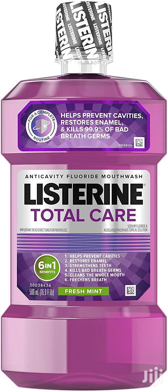 Listerine Total Care Anticavity Mouthwash, Fresh Mint Flavor 500ml