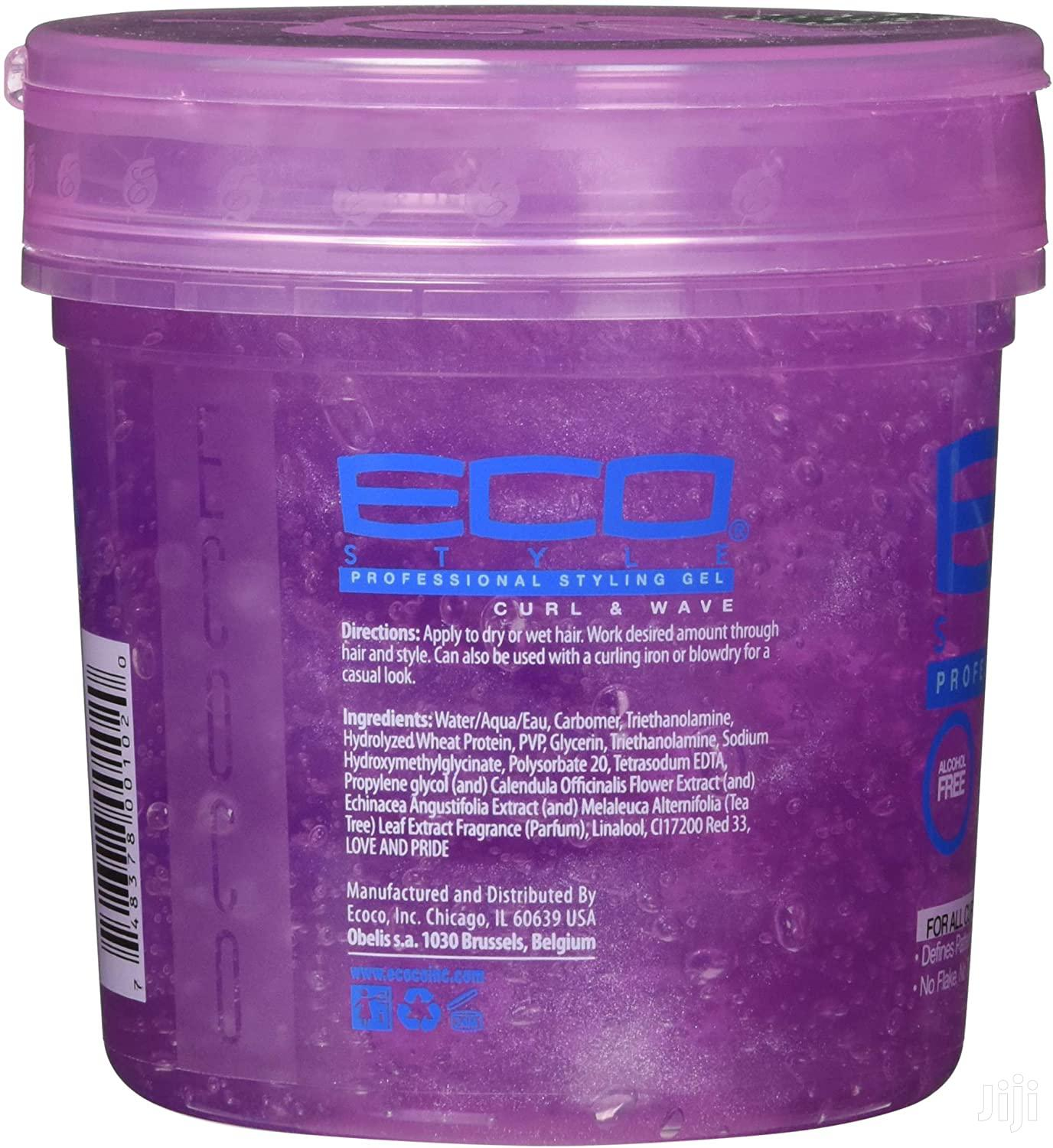 Eco Professional Styling Gel Curl And Wave 473ml | Hair Beauty for sale in Kampala, Central Region, Uganda