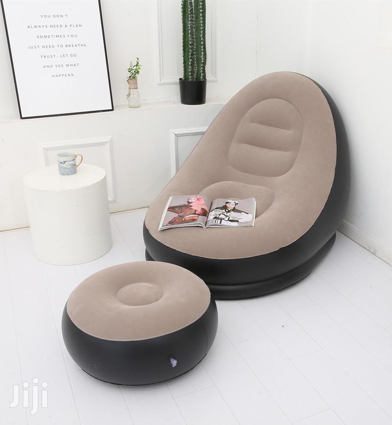 BEAN BAG Lazy Sofa Inflatable Folding Recliner. | Furniture for sale in Kampala, Central Region, Uganda