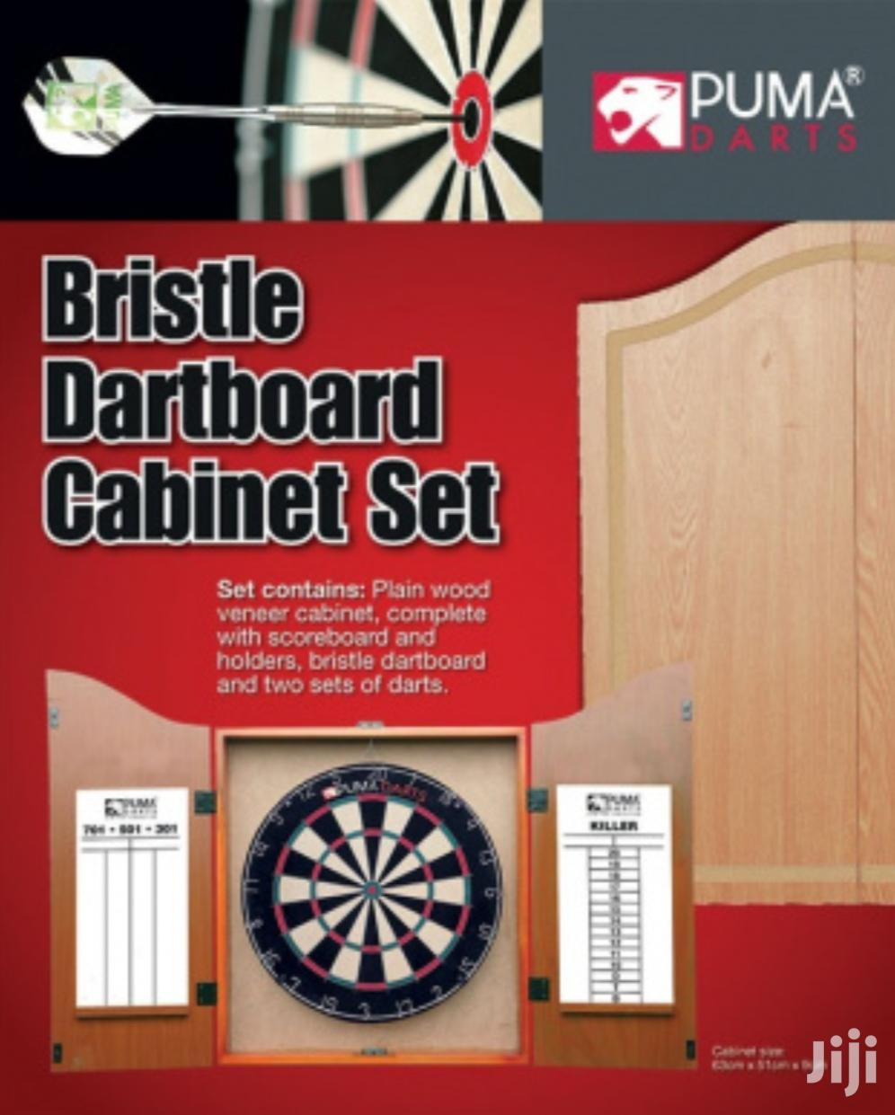 Original Puma Darts Stadium Bristle Dartboard Cabinet Set | Books & Games for sale in Kampala, Central Region, Uganda