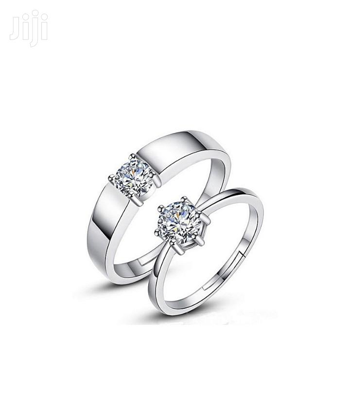 Pair Of Couple Rings Silver