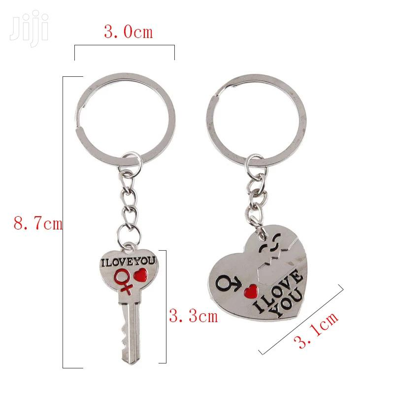 Trendy Couple I LOVE YOU Heart Keychain Ring Souvenirs | Jewelry for sale in Kampala, Central Region, Uganda