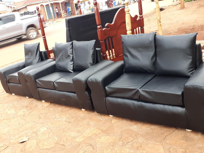 Picture of: Black Leather Sofa Sets In Kampala Furniture Christian Josh Jiji Ug