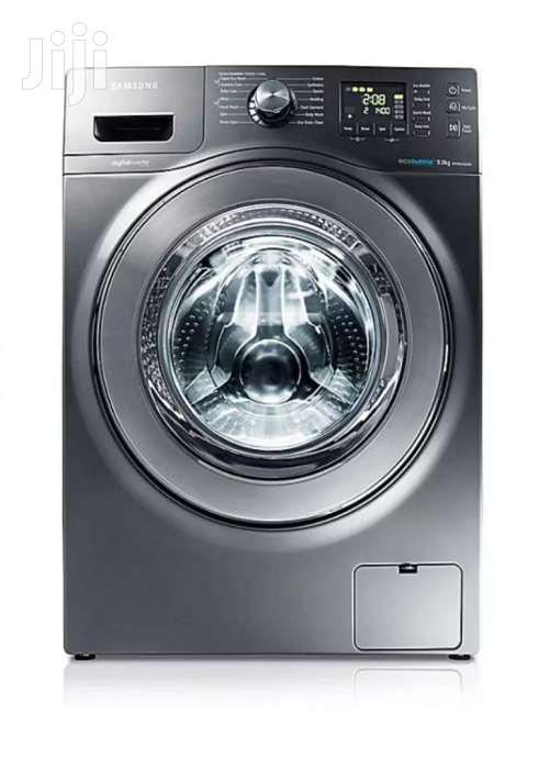 Samsung WF906U4SAGD 9kg Eco Bubble Front Load Washing Machine - Grey