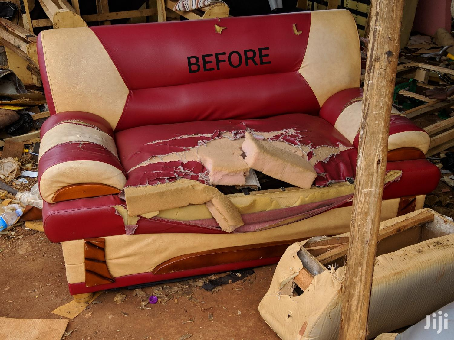 BEFORE and AFTER SOFA Repairing Svc | Furniture for sale in Kampala, Central Region, Uganda