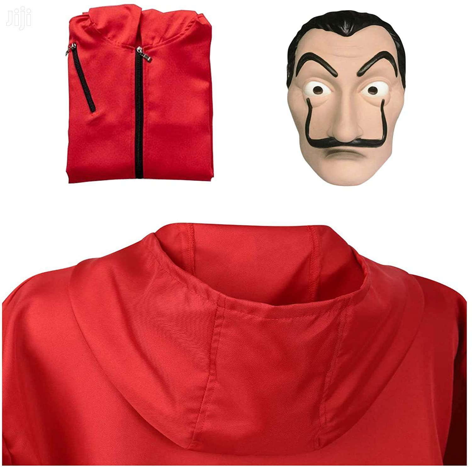 Money Heist La Casa De Papel Red Jumpsuit And Dali Mask Costume