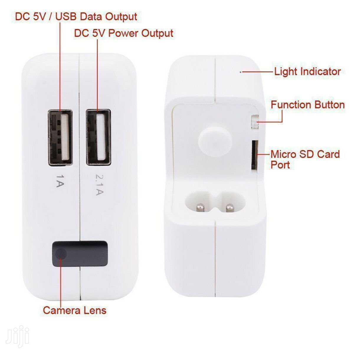USB Wall Charger HD Motion Hidden Spy Camera Charger | Security & Surveillance for sale in Kampala, Central Region, Uganda