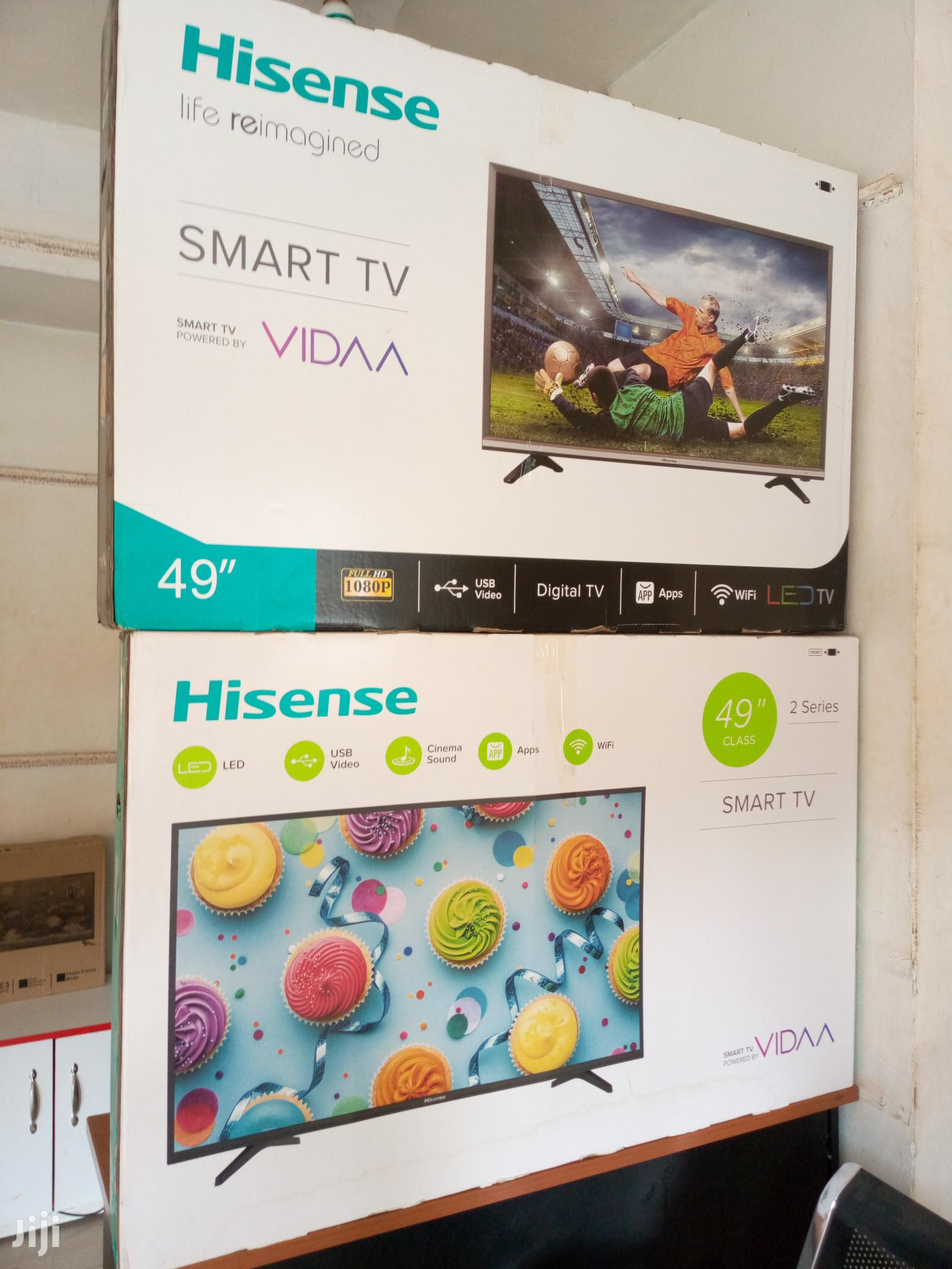 Hisense Smart Digital Satellite Full HD Led Flat Screen TV 49 Inches | TV & DVD Equipment for sale in Kampala, Central Region, Uganda