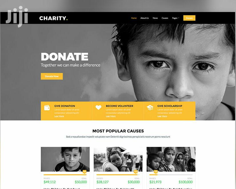 Charity Website Development and Hosting