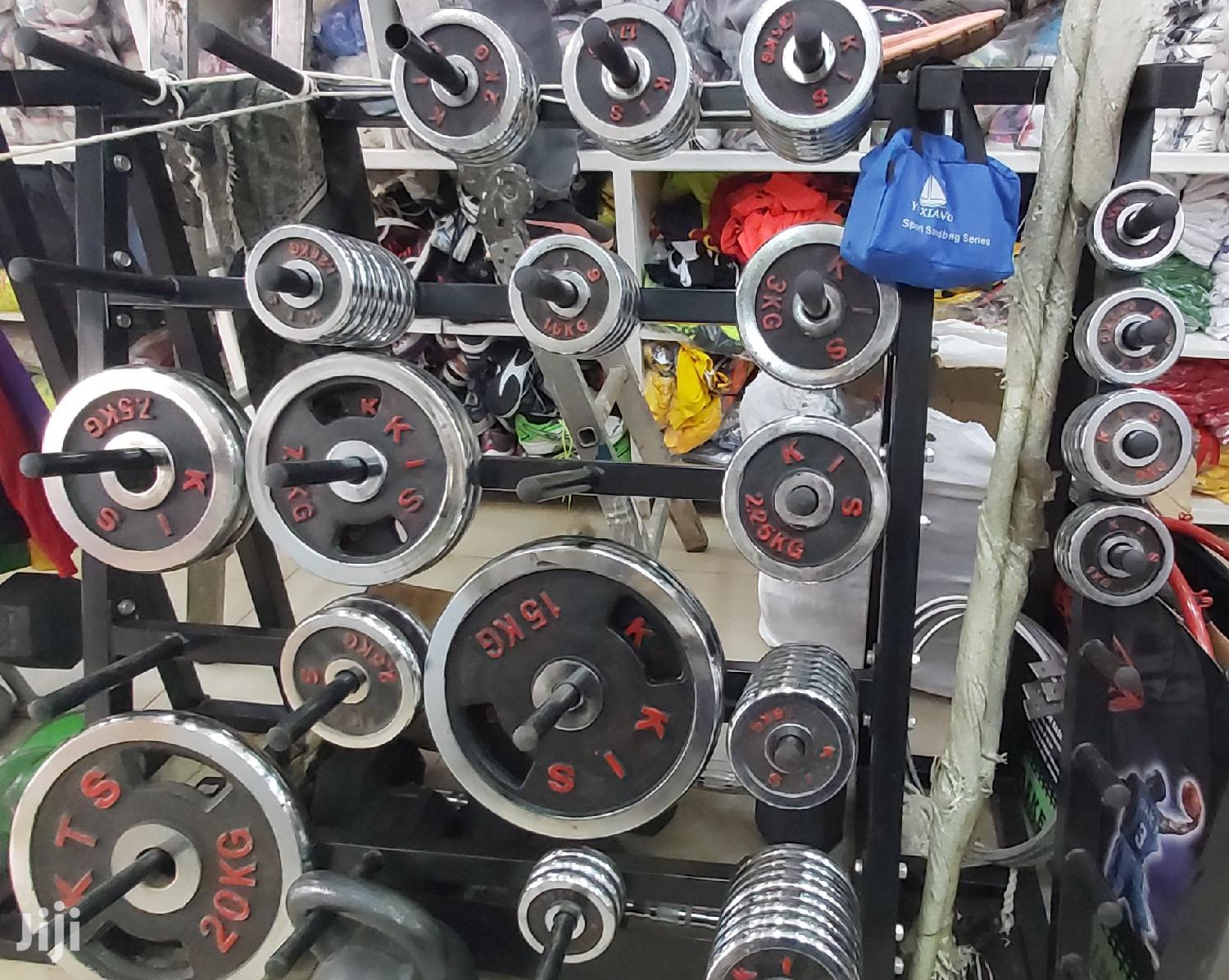 Weight Lifting Plates And Dumbbells | Sports Equipment for sale in Kampala, Central Region, Uganda