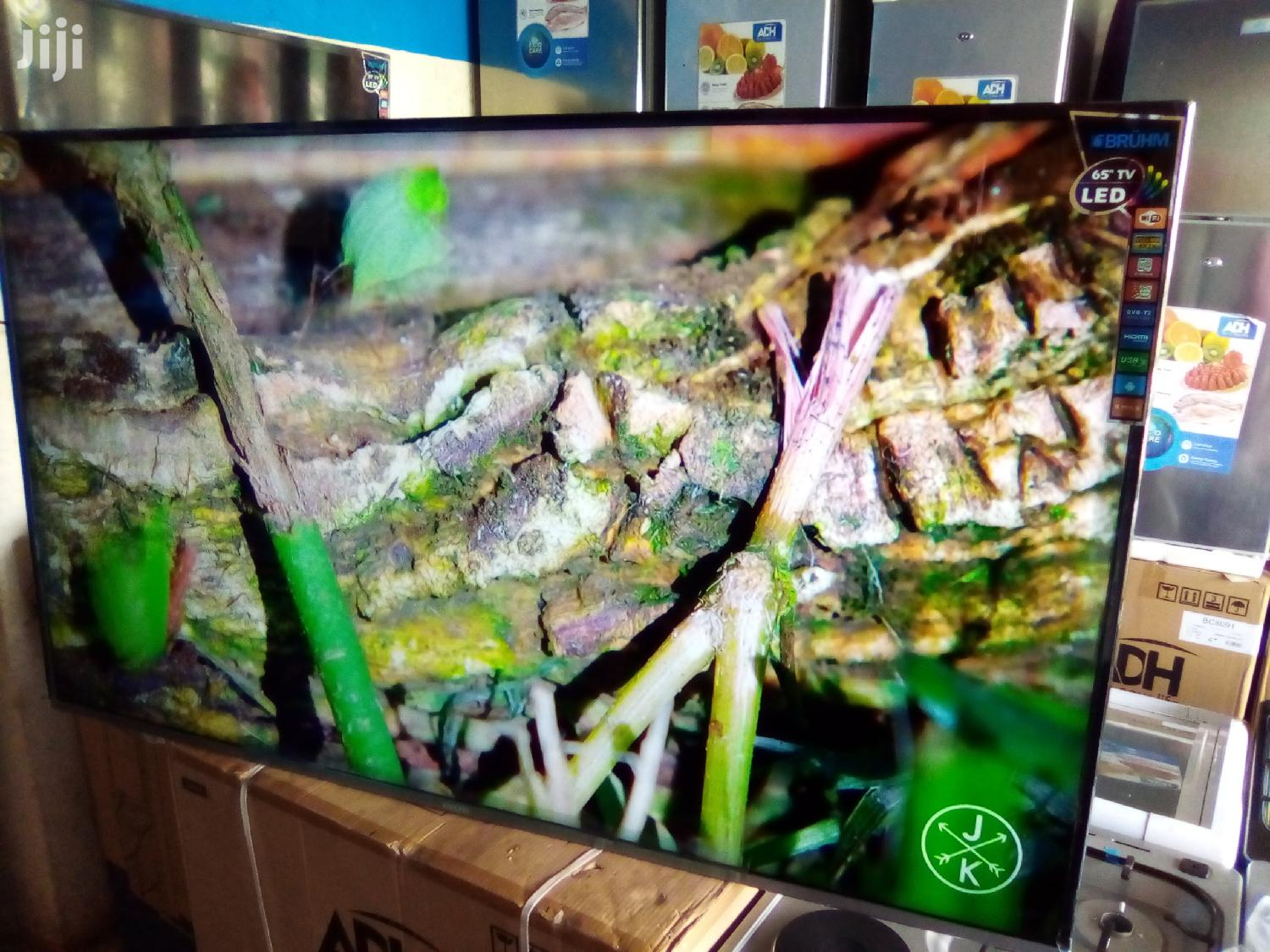 "Bruhm 65"" Smart Android 4K UHD Brand New Ultra Slim LED Tvs."