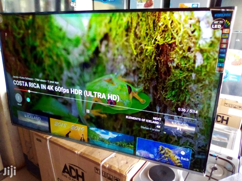 BRUHM 55 Inch Tvs. New Smart, 4K UHD Ultra Slim Flat LED Tvs