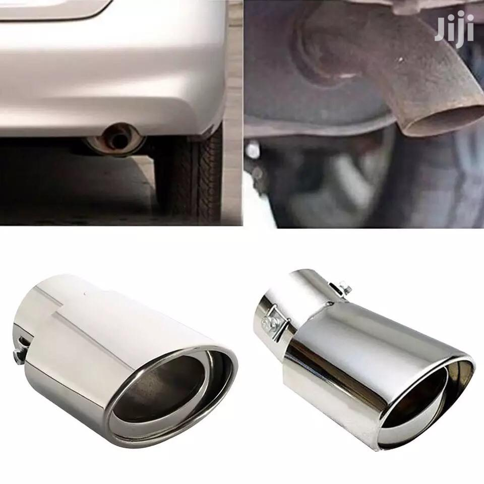 Universal Stainless Steel Car Vehicle Rear Round Exhaust Pipe Muffler