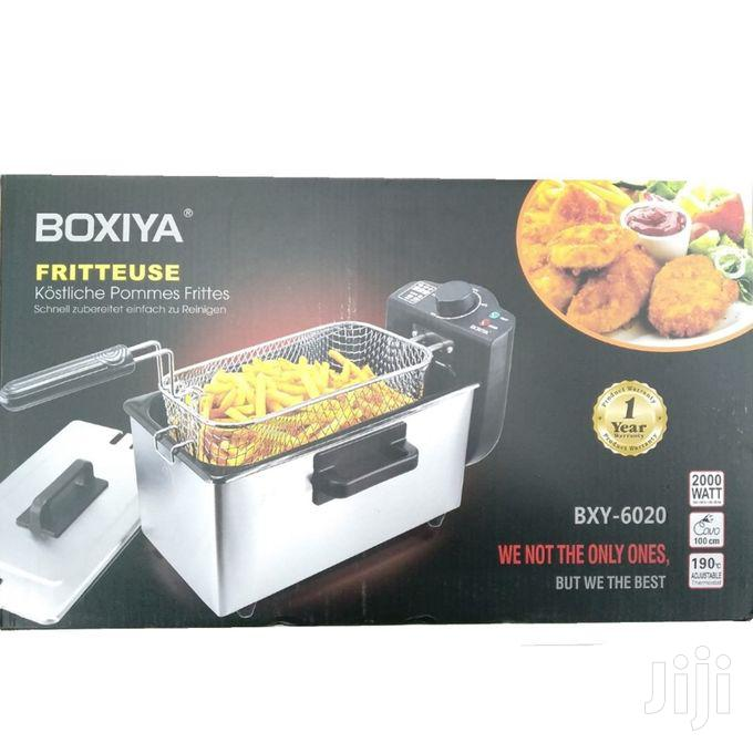 Professional Style Stainless Steel Deep Fryer - Silver