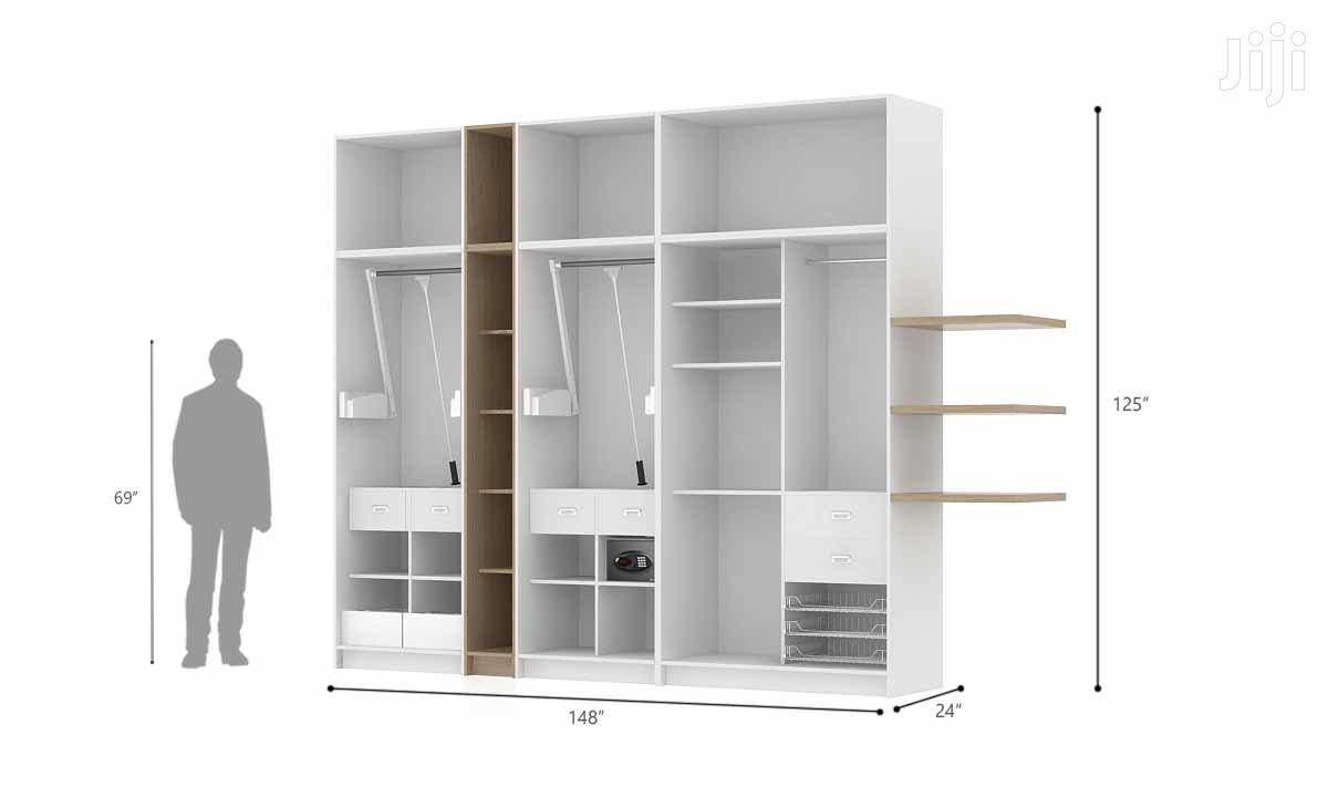 Modern Strong Stylish Wardrobe White | Furniture for sale in Kampala, Central Region, Uganda