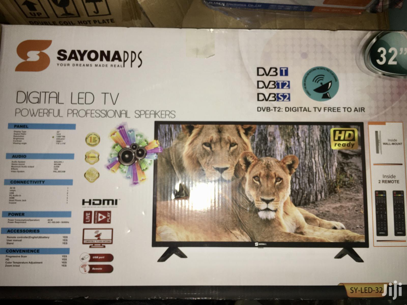 Original NEW Sayona TV 32 Inches With Decoder | TV & DVD Equipment for sale in Kampala, Central Region, Uganda