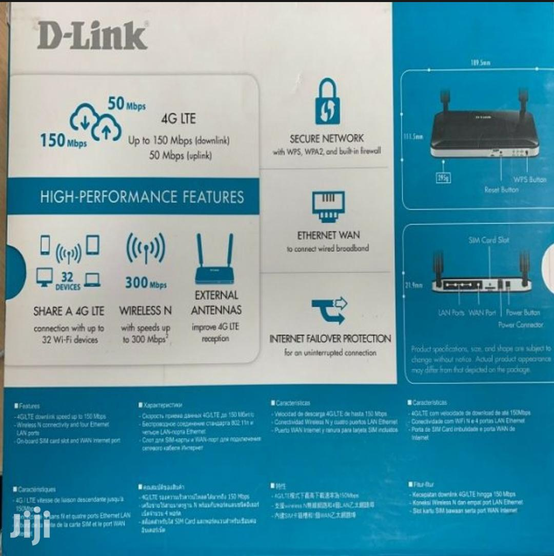 D-link 3G/4G LTE Sim Wireless Router | Networking Products for sale in Kampala, Central Region, Uganda