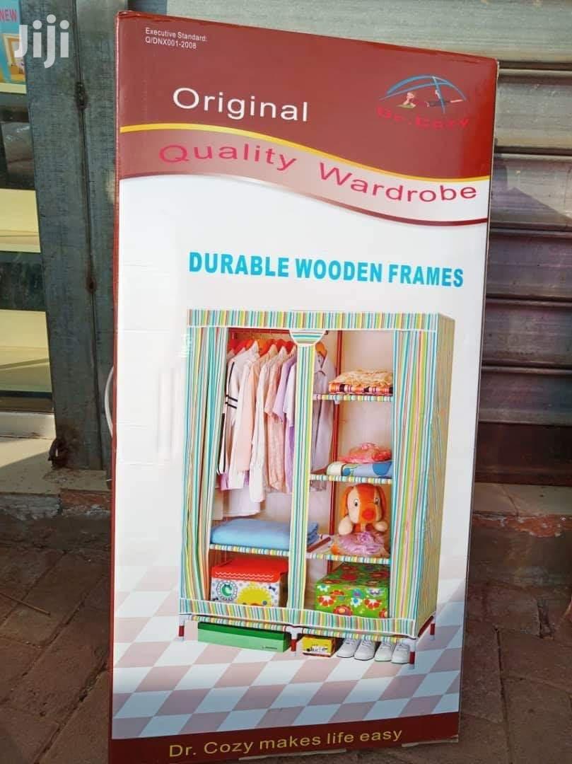 Original Wooden Frame Wardrobe With Zip | Furniture for sale in Kampala, Central Region, Uganda