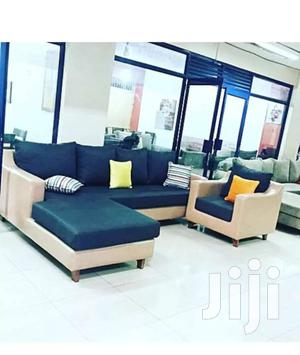L Sectional 5 Seater Sofa Plus Single Chair - Navy Blue, Cream   Furniture for sale in Central Region, Kampala