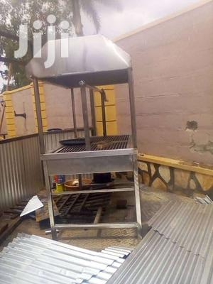 Stainless Steel Barbeque Grill With Chimney.