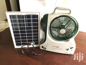 Solar Fan With Lamp And Panel