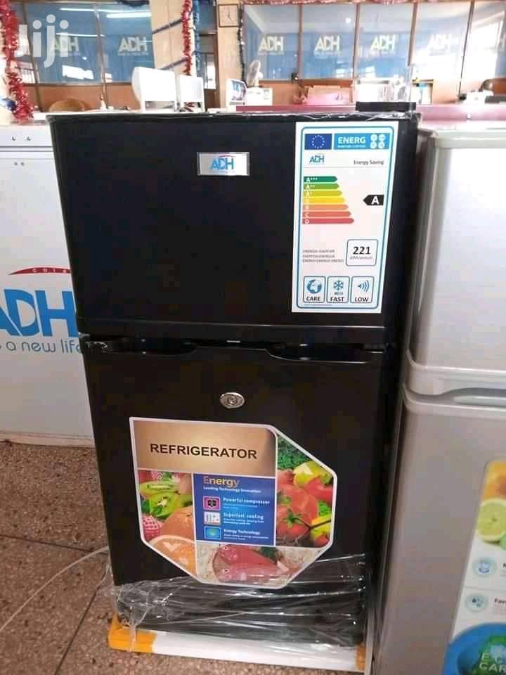 Adh New Model 99L Double Door Refrigerator Fridge Black