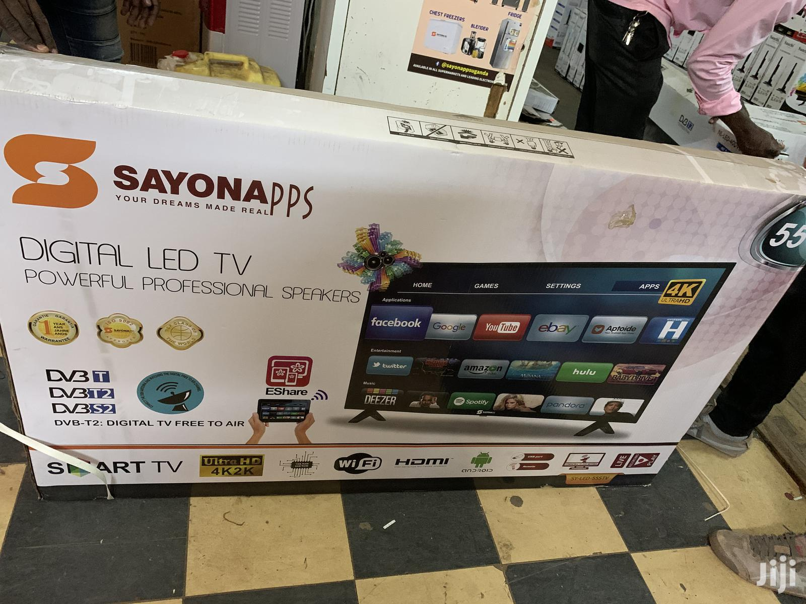 55 Inches Smart Android Tv Sayona | TV & DVD Equipment for sale in Kampala, Central Region, Uganda