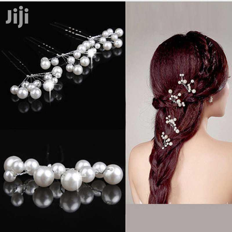 5pcs Simulate Pearly Hairpins