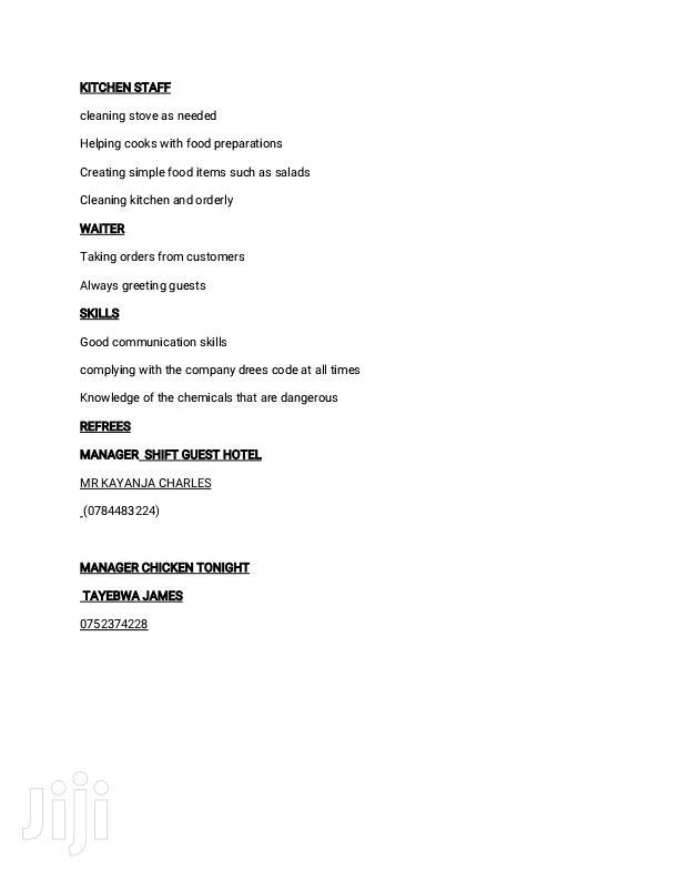 Hotel CV | Customer Service CVs for sale in Kampala, Central Region, Uganda