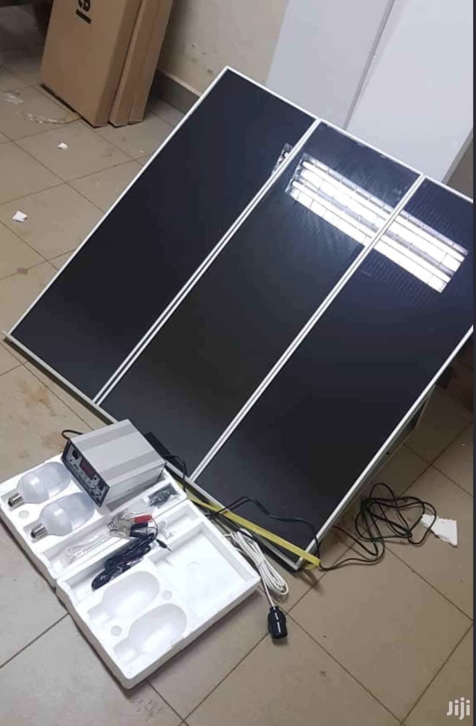 45 Watts Solar Power Back Up Kit With Regulator And 2 Bulbs