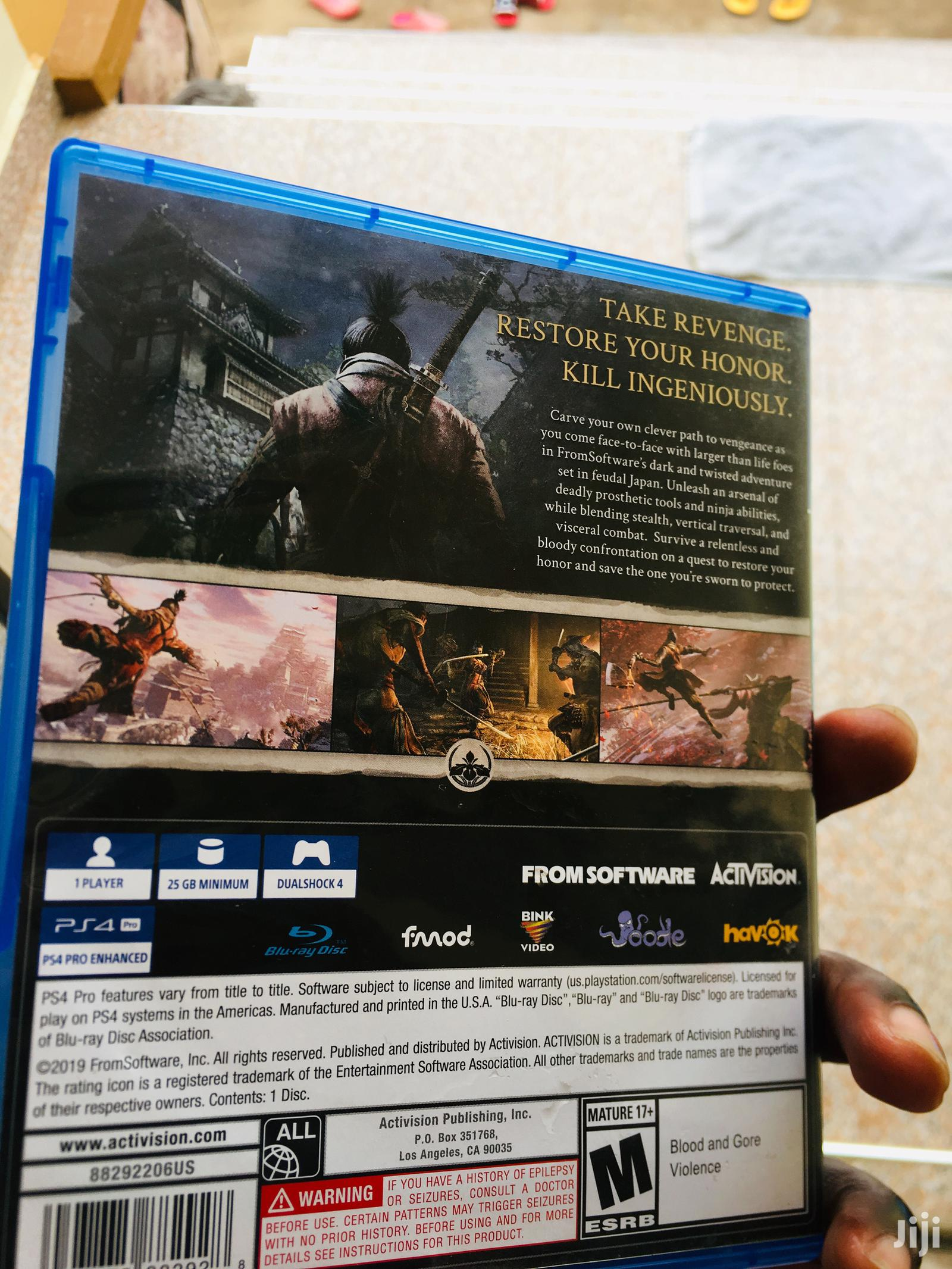 "SEKIRO ""Shadows Die Twice"" Ps4 Game 