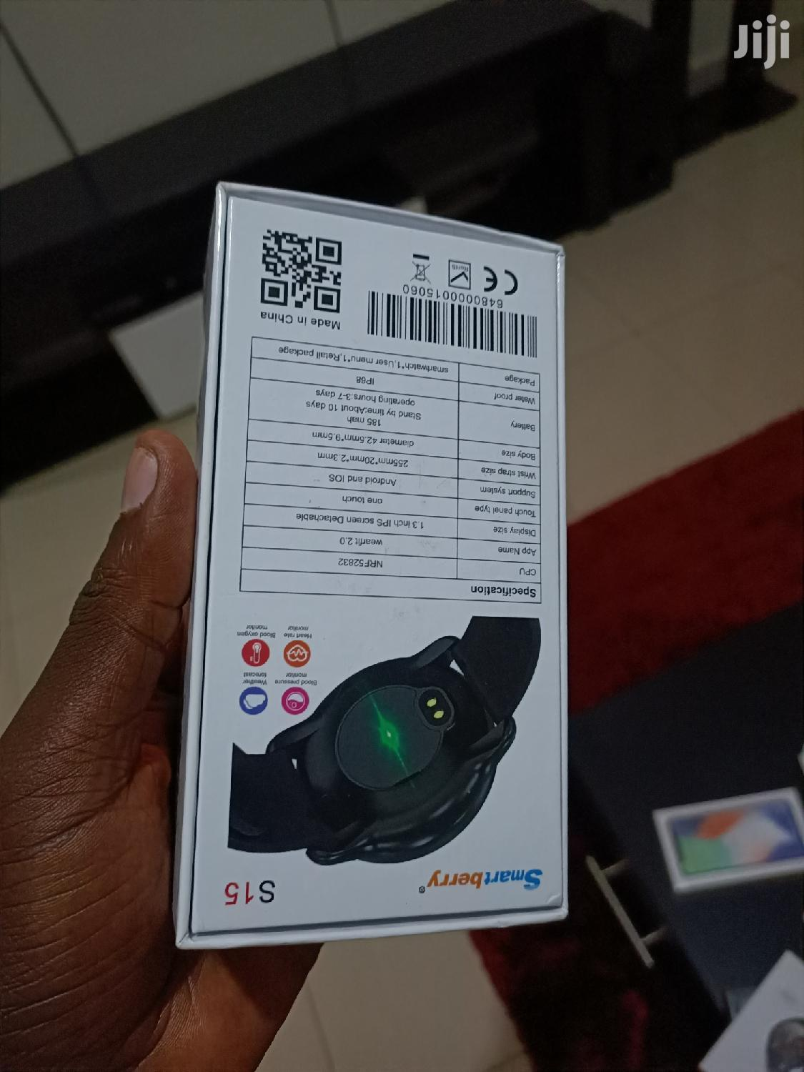 Brand Smart Berry Watch S15 With A Very Strong Battery | Smart Watches & Trackers for sale in Kampala, Central Region, Uganda