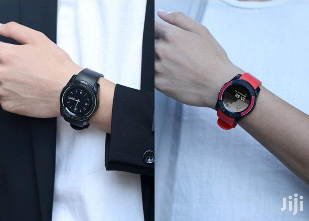 V3 Smart Watch With Camera And Sim Card Support | Smart Watches & Trackers for sale in Kampala, Central Region, Uganda
