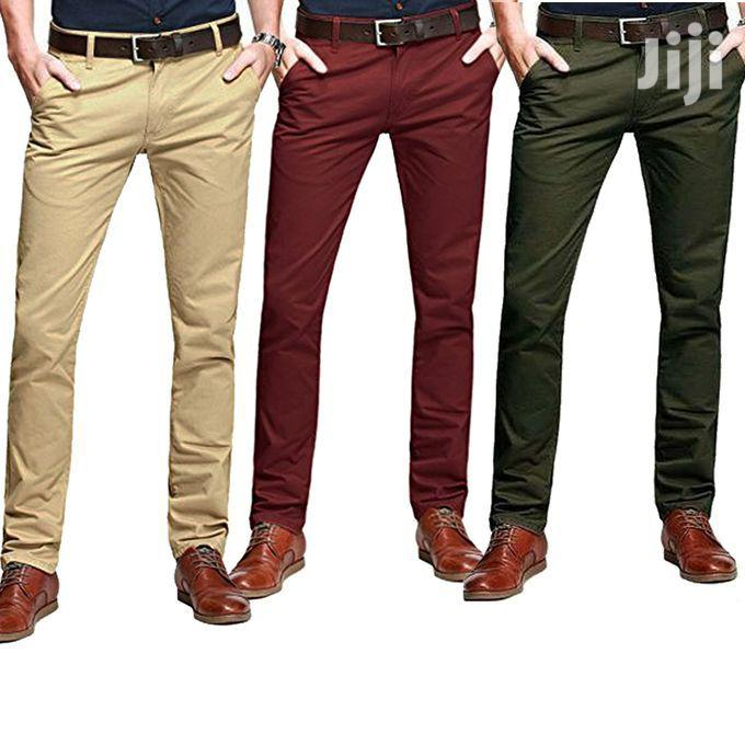 3 Pack of Men's Khaki Trousers(All Colors and Sizes)