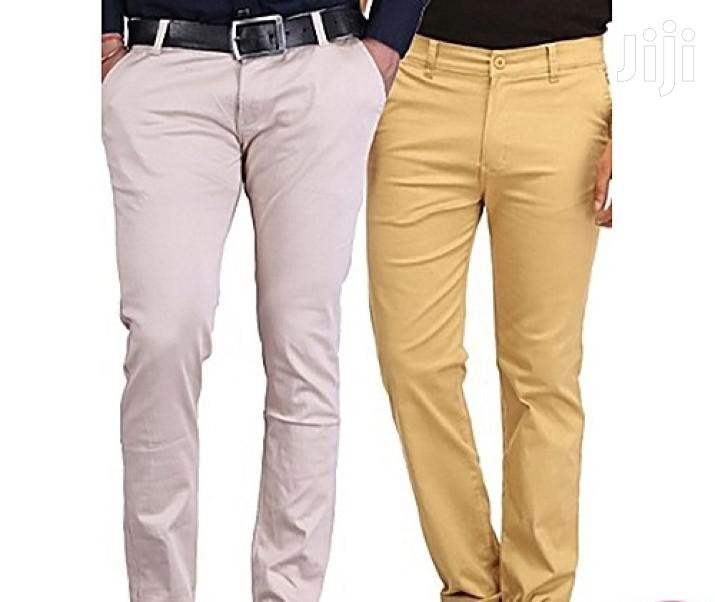 2 Pack of Men Khaki Trousers(All Sizes and Colors)