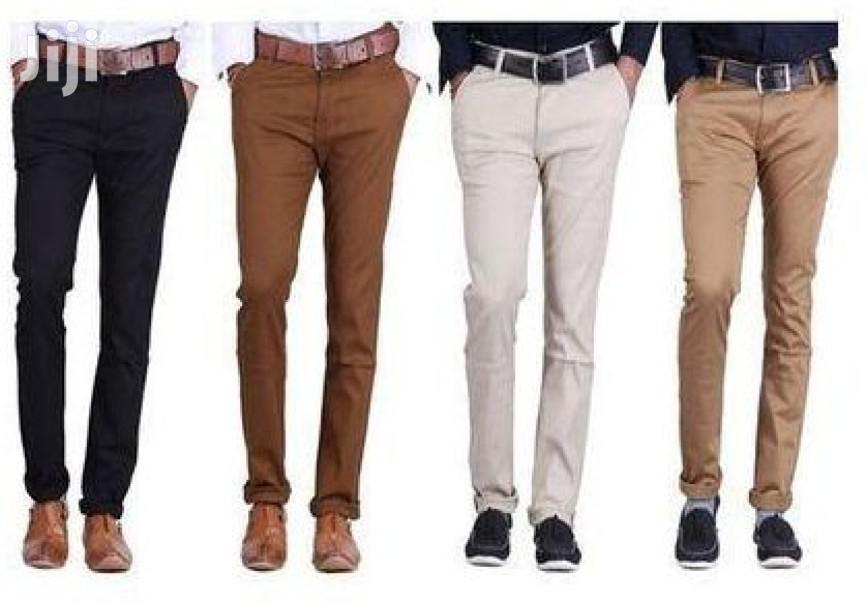 4 Pack of Men's Khaki Trousers(All Colors and Sizes)