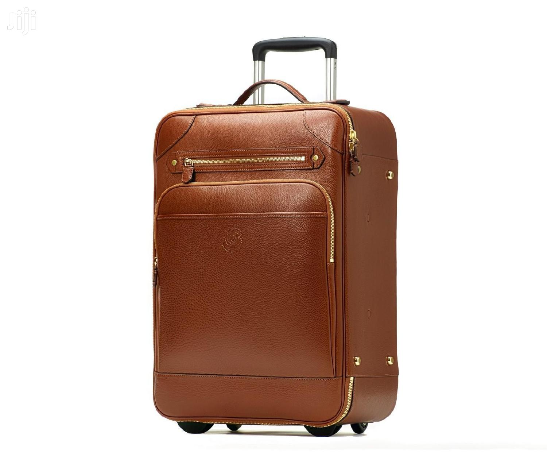 Big Pure Leather Suitcase