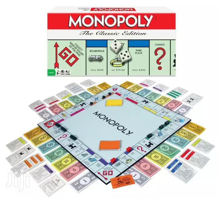 Standard Monopoly Game Board