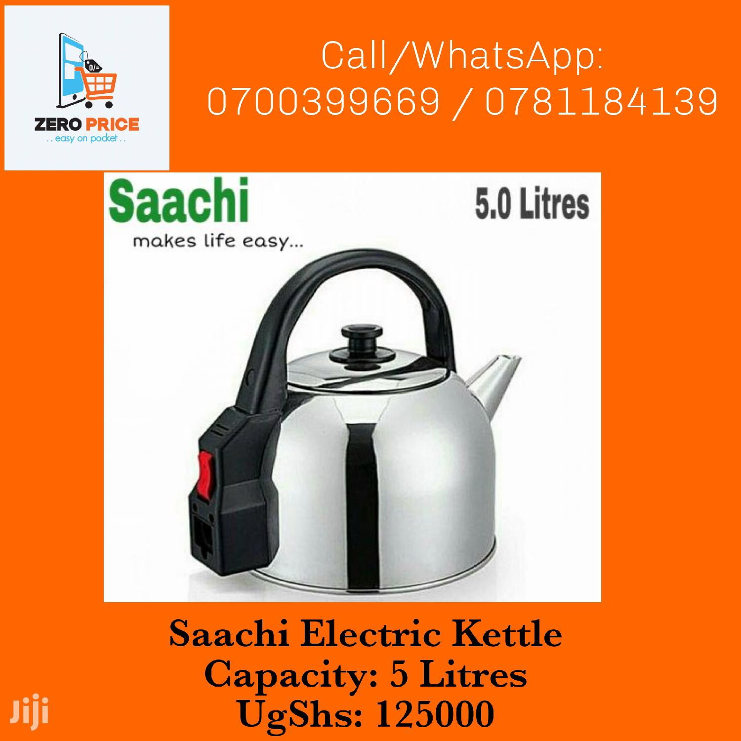 Saachi Stainless Steel Electric Kettle - 5L