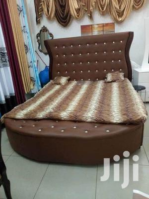 Brown Cushioned Bed for Sale