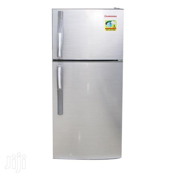 Changhong - Double Door Refrigerator - 153L Fridge - Silver