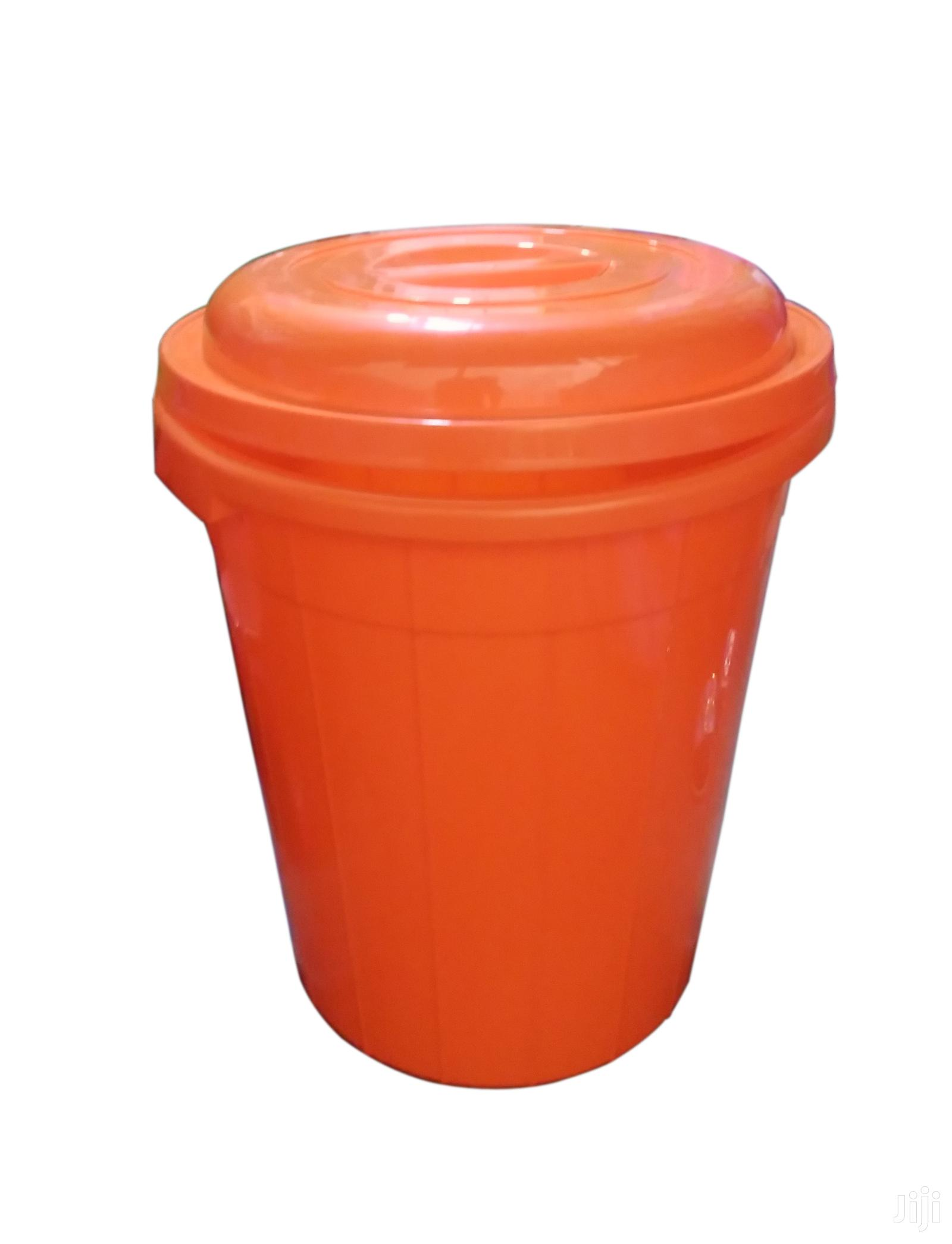 60litre Plastic Water Container Drum - Orange