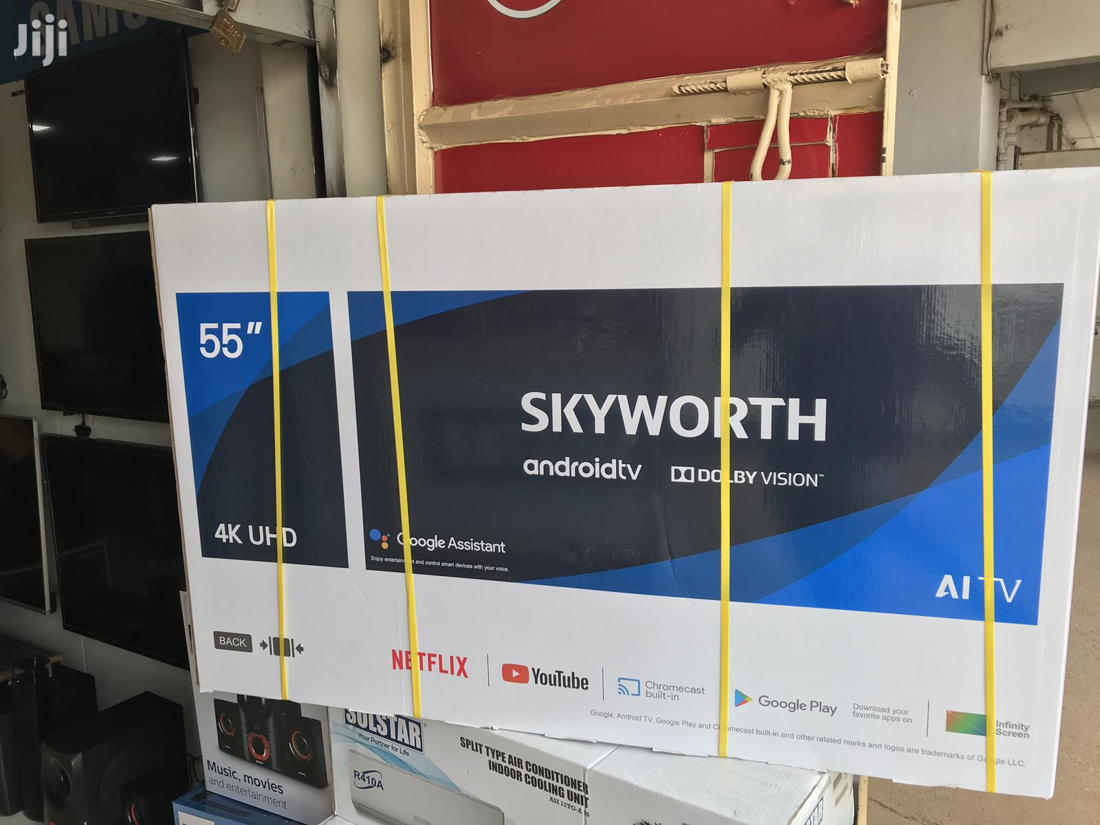 "Skyworth 55""Inches Smart Tv 4K UHD"