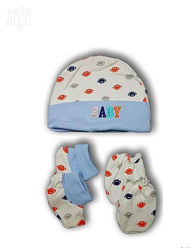 Baby Cap With Socks And Mittens