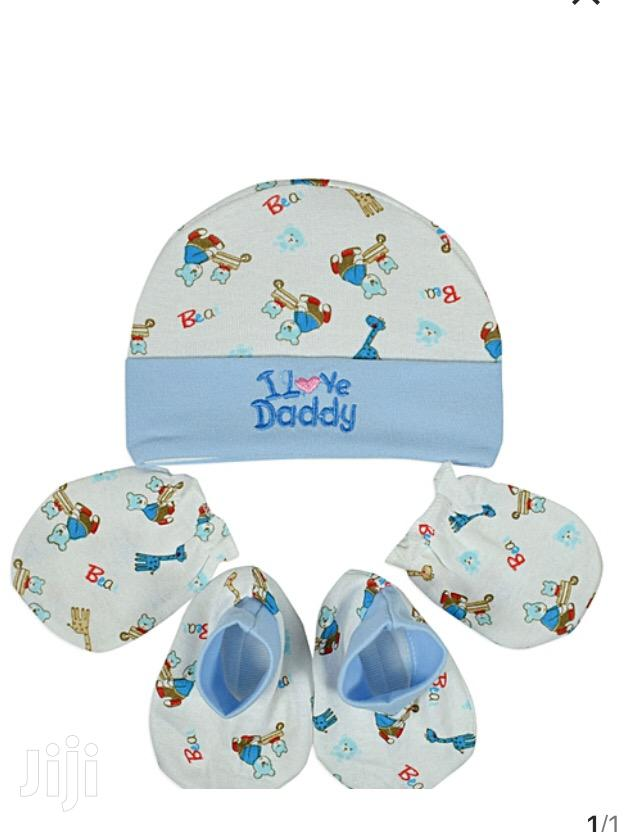 Baby Cap With Socks And Mittens | Children's Clothing for sale in Kampala, Central Region, Uganda