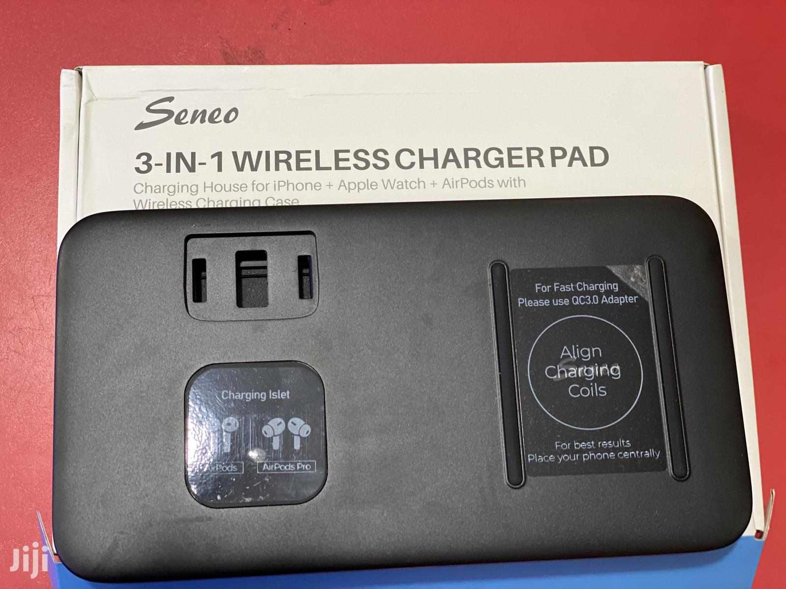 Wireless Charger Pad for iPhone Airpods and I Watch | Accessories for Mobile Phones & Tablets for sale in Kampala, Central Region, Uganda